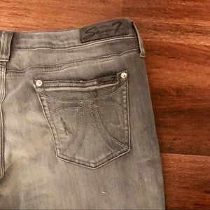 Seven7 Jeans - Seven7 gray distressed skinny ankle jeans